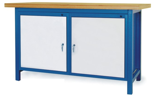 00853637 Stół warsztatowy, 2 drzwi (wymiary: 1500x900x740 mm)