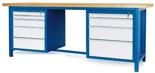 00853656 Stół warsztatowy, 9 szuflad (wymiary: 2100x900x740 mm)
