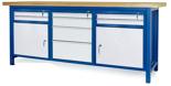 00853663 Stół warsztatowy, 2 drzwi 8 szuflad (wymiary: 2100x900x740 mm)