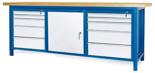 00853668 Stół warsztatowy, 1 drzwi 10 szuflad (wymiary: 2100x900x740 mm)