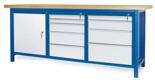 00853675 Stół warsztatowy, 1 drzwi, 9 szuflad (wymiary: 2100x900x740 mm)