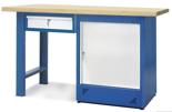 00853680 Stół warsztatowy, 1 drzwi, 1 szuflada (wymiary: 1500x900x740 mm)