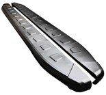 01655904 Stopnie boczne, czarne - Hyundai SantaFe 2006-2012 (długość: 182 cm)