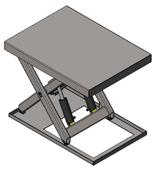 01860194 Podnośnik, podest nożycowy, cylindry ze stali nierdzewnej (udźwig: 2000 kg, wymiary: 1400x1100mm, skok: 900mm, moc: 1,1kW)