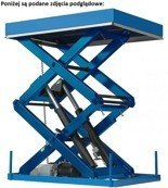 01862940 Podnośnik, podest nożycowy (udźwig: 1500 kg, wymiary: 2500x2000mm, skok: 1300mm, moc: 2,3kW)