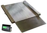 04048995 Waga najazdowa ze stali szlachetnej z legalizacją (nośność: 150 kg, podziałka: 50 g, wymiary: 800x800x45 mm)