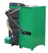 06652766 Kocioł z podajnikiem, automatyczny 15kW z systemem usuwania popiołu (paliwo: pellet, pestki owoców, węgiel, drewno)