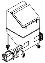 06652830 Automatyczny podajnik do spalania biomasy 0,6m3 400V 30kW, głowica żeliwna (paliwo: trociny, wióry, zrębki, kora, brykiet, agrobrykiet, pellet, pestki owoców)