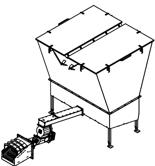 06652866 Automatyczny podajnik do spalania biomasy 10m3 400V 240kW, głowica: żeliwna (paliwo: trociny, wióry, zrębki, kora, brykiet, agrobrykiet, pellet, pestki owoców)