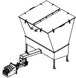 06652893 Automatyczny podajnik z zapalarką do spalania biomasy 10m3 400V 180kW, głowica: żeliwna (paliwo: trociny, wióry, zrębki, kora, brykiet, agrobrykiet, pellet, pestki owoców)