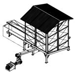 06652900 Automatyczny podajnik z zapalarką do spalania biomasy 27m3 400V 240kW, głowica: żeliwna, bez systemu załadowczego (paliwo: trociny, wióry, zrębki, kora, brykiet, agrobrykiet, pellet, pestki owoców)