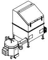 06652923 Automatyczny podajnik do spalania biomasy 1m3 230V 50kW, głowica: ceramiczna (paliwo: trociny, wióry, zrębki)