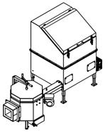 06652931 Automatyczny podajnik do spalania biomasy 1m3 400V 100kW, głowica: ceramiczna (paliwo: trociny, wióry, zrębki)