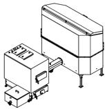 06652967 Automatyczny zestaw do spalania biomasy 2m3 230V 60kW, głowica: żeliwna, z systemem usuwania popiołu (paliwo: trociny, wióry, zrębki, kora, brykiet, agrobrykiet, pellet, pestki owoców)
