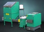 06653060 Automatyczny zestaw do spalania biomasy 1m3 400V 50kW, głowica: ceramiczna, z systemem usuwania popiołu (paliwo: trociny, wióry, zrębki)