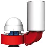 08549467 Wentylator przeciwwybuchowy promieniowy dachowy z wylotem pionowym WPA-6-D/Ex (obroty synchroniczne: 3000 1/min, moc: 0,75 kW, wydajność wentylatora: 2500 m3/h)