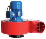 08549485 Wentylator przeciwwybuchowy promieniowy stanowiskowy WPA-10-E/Ex (obroty synchroniczne: 3000 1/min, moc: 4 kW, wydajność wentylatora: 7400 m3/h)