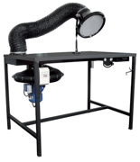 08549610 Urządzenie filtrowentylacyjne, stanowisko spawalnicze z wentylatorem i ssawką magnetyczną z przewodem ERGO-STW-R-MINI (moc: 0,75 kW, wydajność: 1500 m3/h)