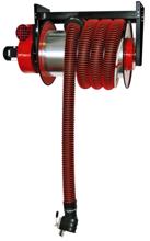 08549656 Odsysacz spalin, bęben odsysacza z napędem sprężynowym, zestawem wężowym, stoperem gumowym - bez ssawki, wentylatora i wyłącznika silnikowego ALAN-U/C-8 (długość węża: 8m, średnica: 125mm)