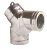 12138429 Kolanko z elementem kontrolnym Dinak DW 432 (średnica: 250mm, kąt: 90 stopni)