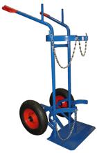 13340550 Wózek dwukołowy spawalniczy do przewozu butli gazowych (nośność: 400 kg)