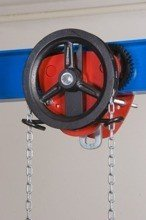 2203101 Wózek jedno-belkowy z napędem ręcznym Z420-A/3.2t/3m (wysokość podnoszenia: 3m, szerokość dwuteownika od: 106-125mm, udźwig: 3,2 T)