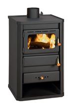 23055314 Piec wolnostojący 10kW na drewno, węgiel (średnica górna spalin: 130 mm)