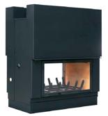 23130441 Wkład kominkowy 17kW AXIS FH 1200 DF (fasada: czarny-ws black, przeszklenie obustronne, drzwi podnoszone)