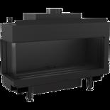 30054026 Wkład kominkowy na gaz 4,3-10kW LEO 100 na gaz ziemny NG (lewa boczna szyba)