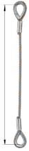 33948330 Zawiesie linowe jednocięgnowe zaciskane tulejkami cylindrycznymi miproSling Typu Fk (udźwig: 25 T, wymiary pętli: 760/380 mm, średnica liny: 48 mm, długość liny: 1 m)