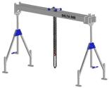 33960020 Wciągarka bramowa aluminiowa z wózkiem pchanym i wciągnikiem łańcuchowym miproCrane DELTA 500M (udźwig: 1000 kg, szerokość: 5100 mm, wysokość: 1820/2920 mm)