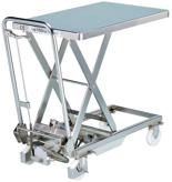 39955549 Wózek platformowy nierdzewny nożycowy (wysokość podnoszenia: 270-750 mm, wymiary: 700x450mm, udźwig: 100 kg)