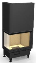 """48955115 Wkład kominkowy 14kW ARYSTO 10 L """"SJ"""" H szyba podnoszona do góry, dopalanie spalin + rekuperacja (drzwiczki lewe jednolite, wymiar frontu: 650 + 370 x 510)"""