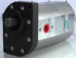 72355176 Pompa hydrauliczna dwusekcyjna (wydajność: 34+17 l/min, objętość geometryczna: 21+11 cm3/obr)