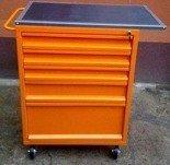 77157354 Wózek narzędziowy z blatem, 5 szuflad (wymiary: 1200x600x500 mm)