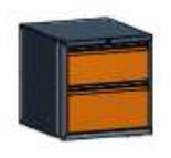 99551569 Szafka typ A, 2 szuflady 300+250 (wymiary: 625x600x690 mm)