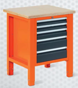 99551600 Stół warsztatowy, 5 szuflad (wymiary: 850-900x725x620 mm)