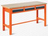 99551613 Stół warsztatowy, 3 szuflady (wymiary: 850-900x1765x620 mm)