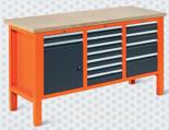 99551619 Stół warsztatowy, 13 szuflad, 1 drzwi (wymiary: 850-900x1765x620 mm)