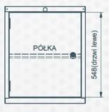 99551642 Szafka typ U, drzwi, półka (wymiary: 625x520x550 mm)