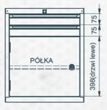 99551644 Szafka typ Z, 2 szuflady, 1 drzwi (wymiary: 625x520x550 mm)