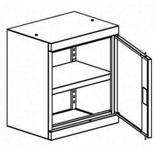 99551701 Nadstawka do szaf biurowych 1,0mm, 1 drzwi, 1 półka (wymiary: 810x600x435 mm)