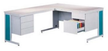99551877 Biurko z dostawką, 5 szuflad (wymiary: 740x1600x800 mm, 740x1200x600 mm)