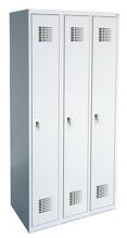 99551975 Szafka ubraniowa 0,8mm, 3 drzwi, zamek cylindryczny zamykany w 3 punktach (wymiary: 1800x1200x500 mm)