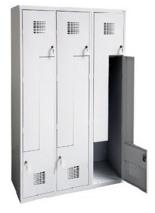 99551982 Szafka ubraniowa 0,5mm, 6 drzwi w kształcie L (wymiary: 1800x900x500 mm)