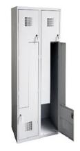 99551988 Szafka ubraniowa 0,5mm, 4 drzwi w kształcie L (wymiary: 1800x800x500 mm)