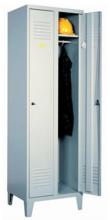 99552140 Szafka ubraniowa 0,6mm na nóżkach, zamek na kłódkę, 2 drzwi (wymiary: 1940x800x490 mm)