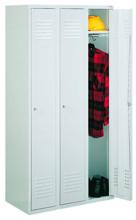 99552172 Szafka ubraniowa 0,8mm, zamek na kłódkę, 3 drzwi (wymiary: 1800x1200x490 mm)