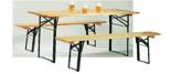 99552409 Zestaw, stół i ławki składane (szerokość: 2200 mm)