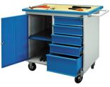 99552461 Szafka warsztatowa na kółkach, 1 drzwi, 5 szuflad (wymiary: 928x961x600 mm)
